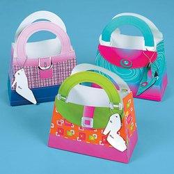 Girlie Gift Bags With Shoe Tags (1 dozen) - Bulk by Fun Express