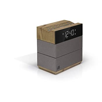 Soundfreaq Sound Rise Wood + Taupe (SFQ-08WT) Wireless Bluetooth Speaker + Alarm Clock with FM Radio and USB Charger