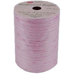 Loftus International Pastel Pink Raffia Spool, 60' - 1