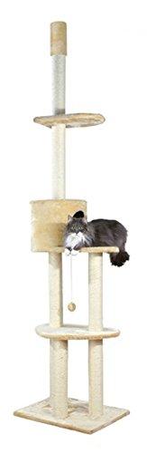 trixie-arbre-a-chat-santiago-du-sol-au-plafond-243-280-cm-beige