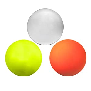 Buy Three Assorted Color Lacrosse Balls - Yellow Orange and White [Misc.] by Lacrosse Ball Store