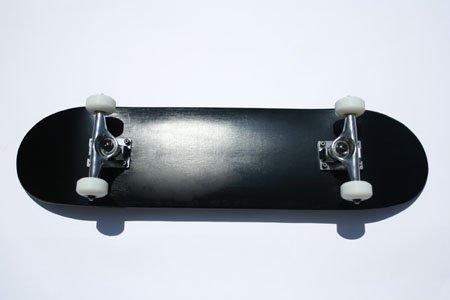 Blank Skateboard Complete Black Blank Dipped Skateboard
