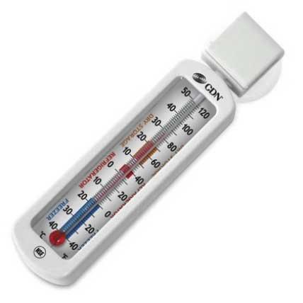 CDN Proaccurate Economy Thermometer für Kühlschrank/Gefrierschrank Thermometer bis + 50Grad C