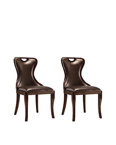 Ceets Set of 2 Hepburn Dining Chairs, Brown