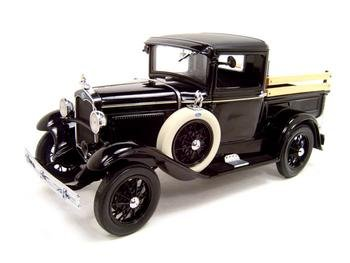 Buy 1931 Ford Model A Stake Truck Black 1:18 Diecast Model