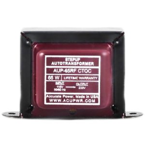 ACUPWR (TM) AUP-65rf From 220 to 110 volt 65 Watt High End Step Up Transformer - Lifetime Warranty