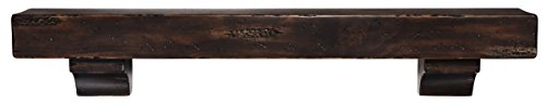 Pearl Mantels 412-48-20 The Shenandoah 48-Inch Shelf/Mantel Shelf Espresso Rustic Distressed Finish (Distressed Fireplace compare prices)