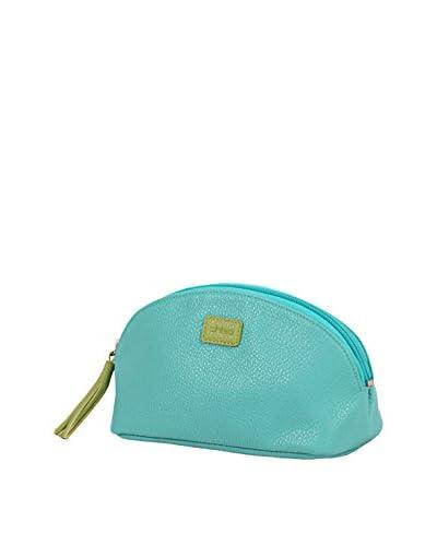 Morelle & Co. Mini Cosmetic Bag, Lime/Aqua