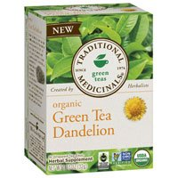 Organic Green Tea, Dandelion 16 Bag by Traditional Medicinals Teas (Pack of 3)
