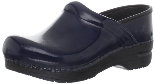 Dansko Gitte Patent Clog (Infant/Toddler/Little Kid/Big Kid),Navy Patent,34 Eu (3.5-4 M Us Big Kid) front-756103