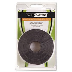 - Adhesive-Backed Magnetic Tape, Black, 1/2\