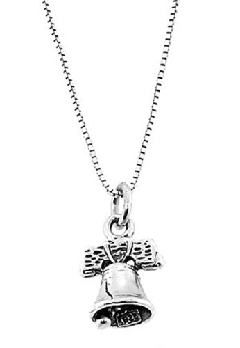 Sterling Silver 3 Dimensional Liberty Bell Necklace