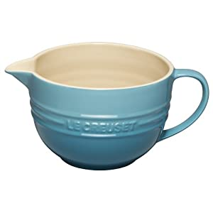 Click to buy Cool Kitchen Gadget: Le Creuset Stoneware 2-Quart Batter Bowl, Caribbean from Amazon!