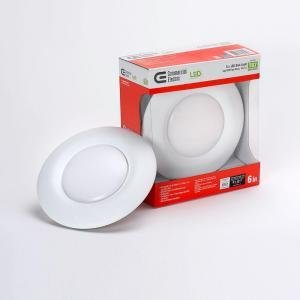 t67 commercial electric 6 in recessed soft white led disk