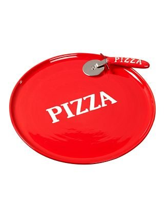 Tabletops Unlimited Espana Serveware, 2 Pc. Pizza Set - Serving and Pizza Cutter