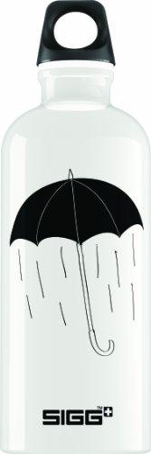Sigg Hell Yeah It'S Raining Water Bottle, 0.6-Liter, White front-695968