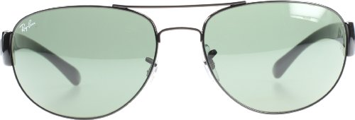 Ray-Ban 3448 002 Black 3448 Aviator Sunglasses Size 63mm