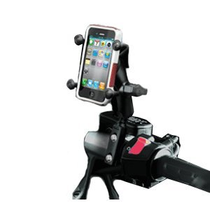 Ram Brake/Clutch Reservoir U-Bolt Motorcycle Mount With Universal X-Grip(Tm) Cell Phone Holder