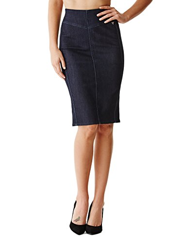 GUESS Women's Sierra Pencil Skirt in Rinse Wash