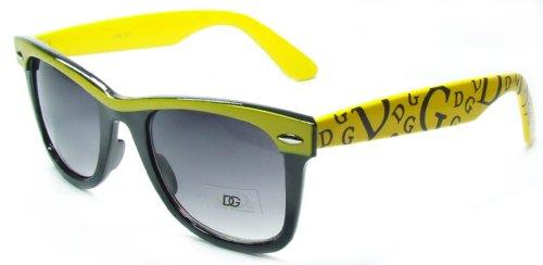 DG Wayfarer Style Funky Sunglasses Adult Size UV400 100% Protection