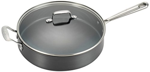 Emeril by All-Clad E83691 Hard Anodized Dishwasher Safe Oven Safe Scratch Resistent Sauce Pan Cookware, 5-Quart, Black
