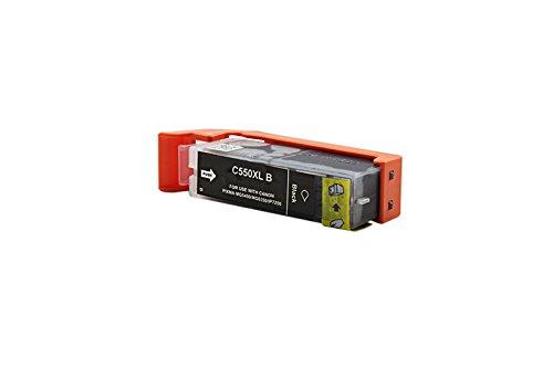 Kompatibel für Canon Pixma IP 7250 Tinte schwarz - PGI-550PGBK XL / 6431B001 - Inhalt: 24 ml