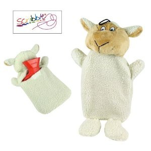 (Scribble) 750ml Hot Water Bottle and Cover (Lamb)