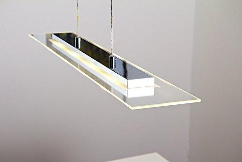 LED Lampada a sospensione metallo cromo vetro satinato design ...
