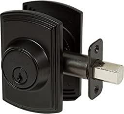 Delaney Italian Collection 372004 Deadbolt - Single Cylinder, Black
