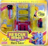 Rescue Heroes Fire Ladder Pack Hero Gear, 5 Piece Set