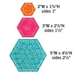 AccuQuilt GO! Fabric Cutting Dies; Hexagons