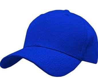 Amazon Com S Cloth Royal Blue Velcro Baseball Cap Blank
