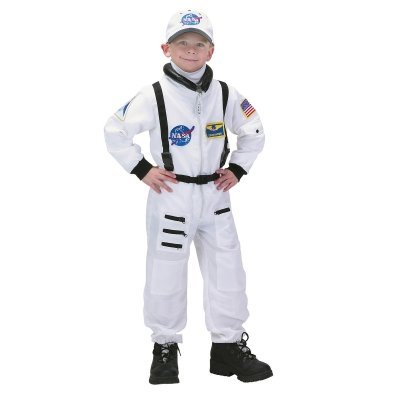Jr Astronaut Suit (White) w/ Embroidered Cap Toddler Costume Ages 2-3 (BASW-23)
