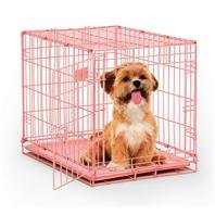 Midwest Single Door Dog Icrate, 24-Inch, Pink front-41462