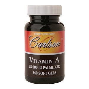 Carlson Vitamin A 15,000 Iu Palmitate, Softgels 240 Ea