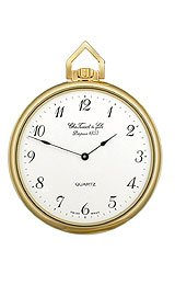 Tissot Brass-Plated Quartz White Dial Pocket Watch #T82.4.554.12