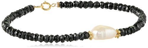 black-spinel-rondelle-with-white-baroque-freshwater-cultured-pearl-center-and-gold-over-silver-clasp