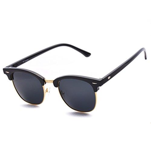 Rimless Clubmaster Glasses : Polarized Clubmaster Men Women Classic Half Frame Semi ...