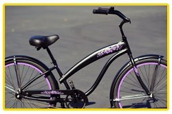 Anti-Rust aluminum Alloy frame, Fito Modena EX Alloy 1-speed - Matte black/Purple, women's 26