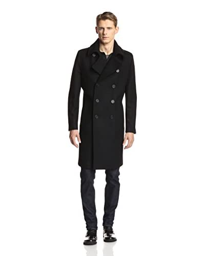 Andrew Marc Men's Ivan Double Breasted Wool Peacoat