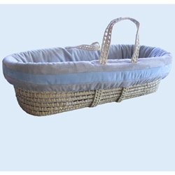 Suede Susie Moses Basket - Color: Light Blue front-1055413