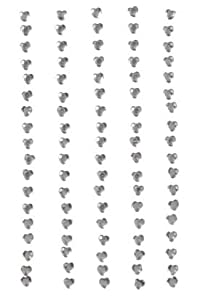 Stick On Rhinestones - Round - Crystal - Heart - 3mm - 90 pieces
