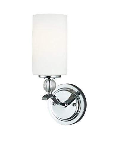 Seagull Lighting Englehorn 1-Light Wall/Bath Light, Chrome