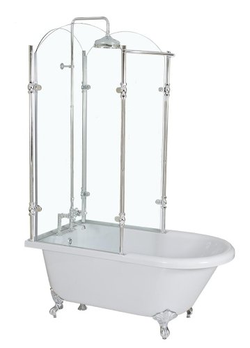Clawfoot Tub Shower Enclosures Discount 39 RainFall 59
