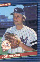 1986 Donruss #601 Joe Niekro