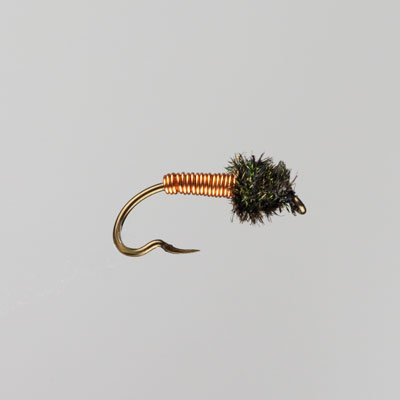 Hot Barbless Brassie Copper Fly