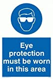 Eye protection must be worn in this area - Mandatory Sign