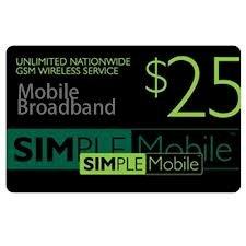 Simple Mobile Prepaid Refill Card $25 - Kalardurnightdra