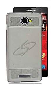 Vcare Shoppe Soft Semi Transparent Back Case Cover for Panasonic P55 - Grey