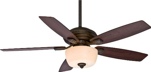 Casablanca 54040 Utopian Gallery 52-Inch 5-Blade Single Light ETL Rated Ceiling Fan, Aged Bronze with Dark Walnut Blades and Champagne Scavo Glass Bowl Light (Casablanca Utopian Ceiling Fan compare prices)